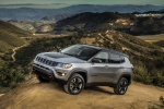 2019 Jeep Compass Trailhawk 4WD in Billet Silver Metallic Clearcoat - Static Front Left Three-quarter View