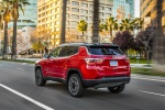2019 Jeep Compass Limited 4WD in Redline Pearlcoat - Static Rear Left Three-quarter View
