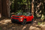 2020 Jeep Compass Trailhawk 4WD in Spitfire Orange Clearcoat - Static Front Left Three-quarter View