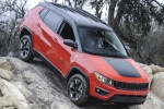 2020 Jeep Compass Trailhawk 4WD in Spitfire Orange Clearcoat - Static Front Right Three-quarter View