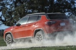 2020 Jeep Compass Trailhawk 4WD in Spitfire Orange Clearcoat - Static Rear Left View