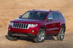2013 Jeep Grand Cherokee Limited 4WD in Deep Cherry Red Crystal Pearlcoat - Static Front Left Three-quarter View