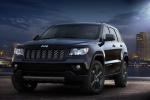 2013 Jeep Grand Cherokee Overland 4WD in Brilliant Black Crystal Pearlcoat - Static Front Left View