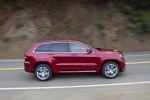 2013 Jeep Grand Cherokee SRT8 4WD in Deep Cherry Red Crystal Pearlcoat - Driving Side View