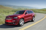 2013 Jeep Grand Cherokee SRT8 4WD in Deep Cherry Red Crystal Pearlcoat - Driving Front Left Three-quarter View