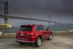 2015 Jeep Grand Cherokee Summit 4WD in Deep Cherry Red Crystal Pearlcoat - Static Rear Right Three-quarter View