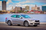 2014 Kia Cadenza in Satin Metal - Static Front Right Three-quarter View