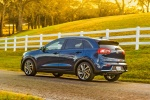 2018 Kia Niro Touring Hybrid in Deep Cerulean - Driving Rear Left Three-quarter View