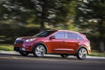 2018 Kia Niro Hybrid in Crimson Red - Driving Side View