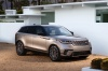 2019 Land Rover Range Rover Velar P380 HSE R-Dynamic in Silicon Silver Premium Metallic from a front right three-quarter view