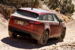 2019 Land Rover Range Rover Velar P250 SE R-Dynamic in Firenze Red Metallic - Driving Rear Right View