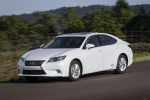 2013 Lexus ES 300h Hybrid Sedan in Starfire Pearl - Driving Front Left View
