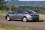 2013 Lexus ES 350 Sedan in Nebula Gray Pearl - Driving Rear Left Three-quarter View