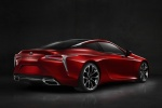 2018 Lexus LC 500 Coupe in Infrared - Static Rear Right Three-quarter View