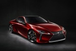 2018 Lexus LC 500 Coupe in Infrared - Static Front Right Three-quarter View