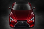 2018 Lexus LC 500 Coupe in Infrared - Static Frontal Top View