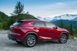 2016 Lexus NX300h in Matador Red Mica - Static Rear Right Three-quarter View