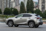 2017 Lexus NX200t in Atomic Silver - Static Rear Left Three-quarter View