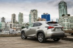 2017 Lexus NX200t in Atomic Silver - Static Rear Left View