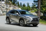 2017 Lexus NX200t in Atomic Silver - Driving Front Right Three-quarter View