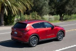 2019 Mazda CX-5 Grand Touring AWD in Soul Red Crystal Metallic - Driving Rear Right Three-quarter View