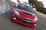 2010 Mazdaspeed3 in Velocity Red Mica - Driving Frontal View