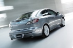 2010 Mazda 3s Sedan in Liquid Silver Metallic - Driving Rear Right Three-quarter View