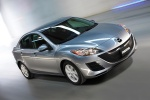 2010 Mazda 3s Sedan in Liquid Silver Metallic - Driving Front Right Three-quarter View