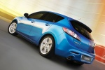 2010 Mazda 3s Hatchback in Celestial Blue Mica - Driving Rear Left Three-quarter View