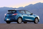 2012 Mazda 3i Hatchback in Sky Blue Mica - Static Rear Right Three-quarter View