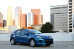 2012 Mazda 3i Sedan in Sky Blue Mica - Static Front Right Three-quarter View
