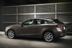 2015 Mazda Mazda3 Hatchback in Meteor Gray Mica - Static Rear Left Three-quarter View