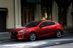 2015 Mazda Mazda3 Sedan in Soul Red Metallic - Static Front Left Three-quarter View