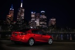 2015 Mazda Mazda3 Sedan in Soul Red Metallic - Static Rear Right Three-quarter View