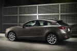 2016 Mazda Mazda3 Hatchback in Meteor Gray Mica - Static Rear Left Three-quarter View