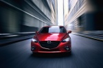 2016 Mazda Mazda3 Sedan in Soul Red Metallic - Driving Frontal View