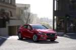 2018 Mazda Mazda3 Grand Touring Sedan in Soul Red Metallic - Driving Front Right View