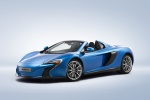 2015 McLaren 650S Spider in Blue - Static Front Left Three-quarter View
