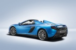 2015 McLaren 650S Spider in Blue - Static Rear Left Three-quarter View