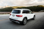 2020 Mercedes-Benz GLB 250 in Polar White - Driving Rear Right Three-quarter View