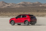 2020 Mitsubishi Eclipse Cross SEL S-AWC in Red Diamond - Driving Rear Left Three-quarter View