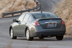 2010 Nissan Altima Hybrid in Dark Slate Metallic - Driving Rear Left View