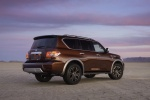 2017 Nissan Armada Platinum in Forged Copper - Static Rear Right Three-quarter View
