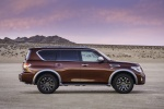 2017 Nissan Armada Platinum in Forged Copper - Static Side View