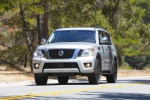 2019 Nissan Armada Platinum in Brilliant Silver - Driving Frontal View