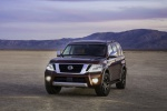 2019 Nissan Armada Platinum in Forged Copper - Static Front Left View