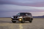 2019 Nissan Armada Platinum in Forged Copper - Static Front Left Three-quarter View
