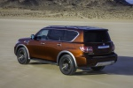 2019 Nissan Armada Platinum in Forged Copper - Static Rear Left Three-quarter Top View