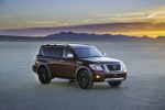 2020 Nissan Armada Platinum in Forged Copper Metallic - Static Front Right Three-quarter View
