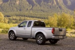 2013 Nissan Frontier King Cab PRO-4X 4WD in Brilliant Silver - Static Rear Left Three-quarter View